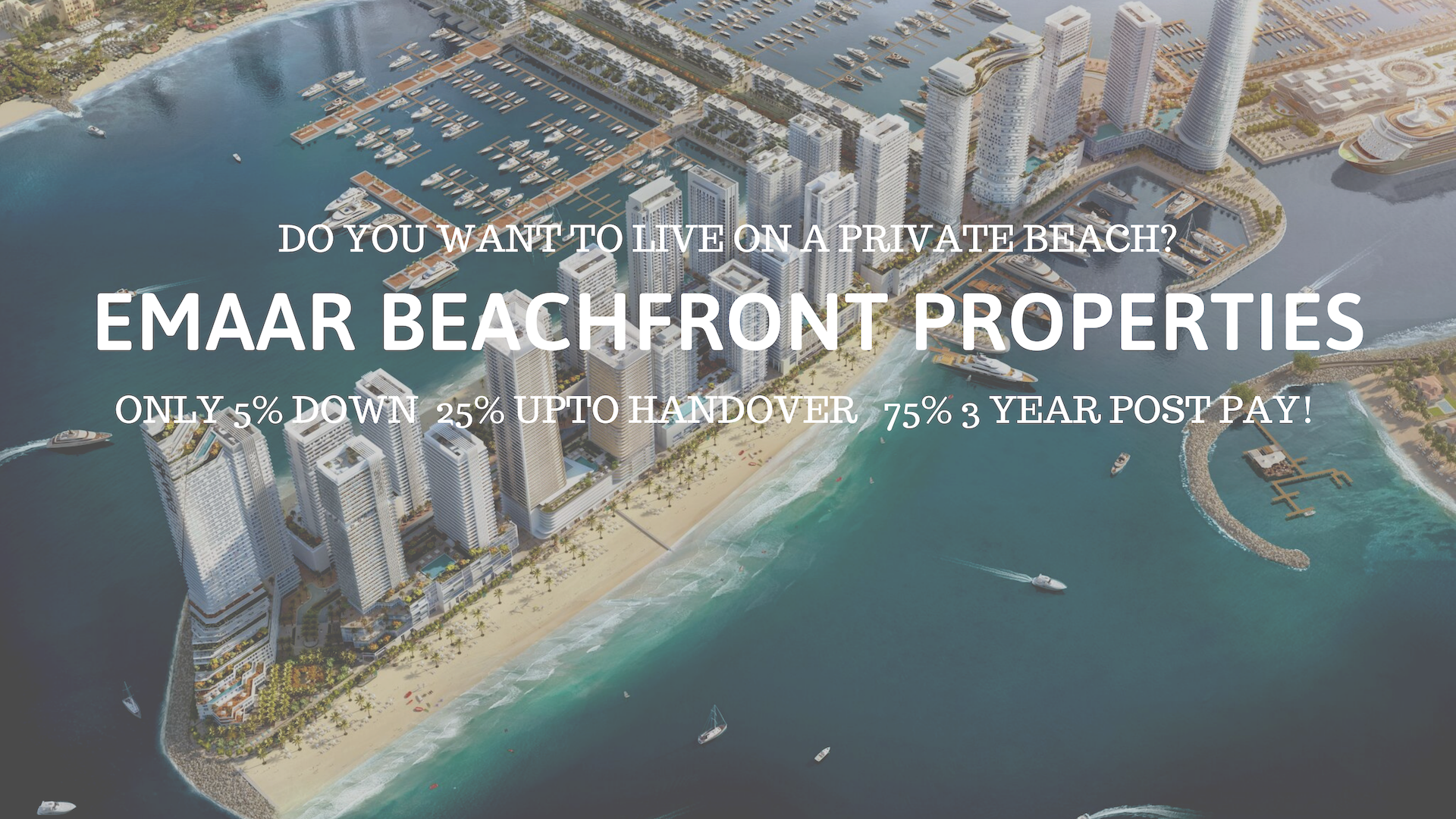 Emaar Beachfront offer on post pay-plan