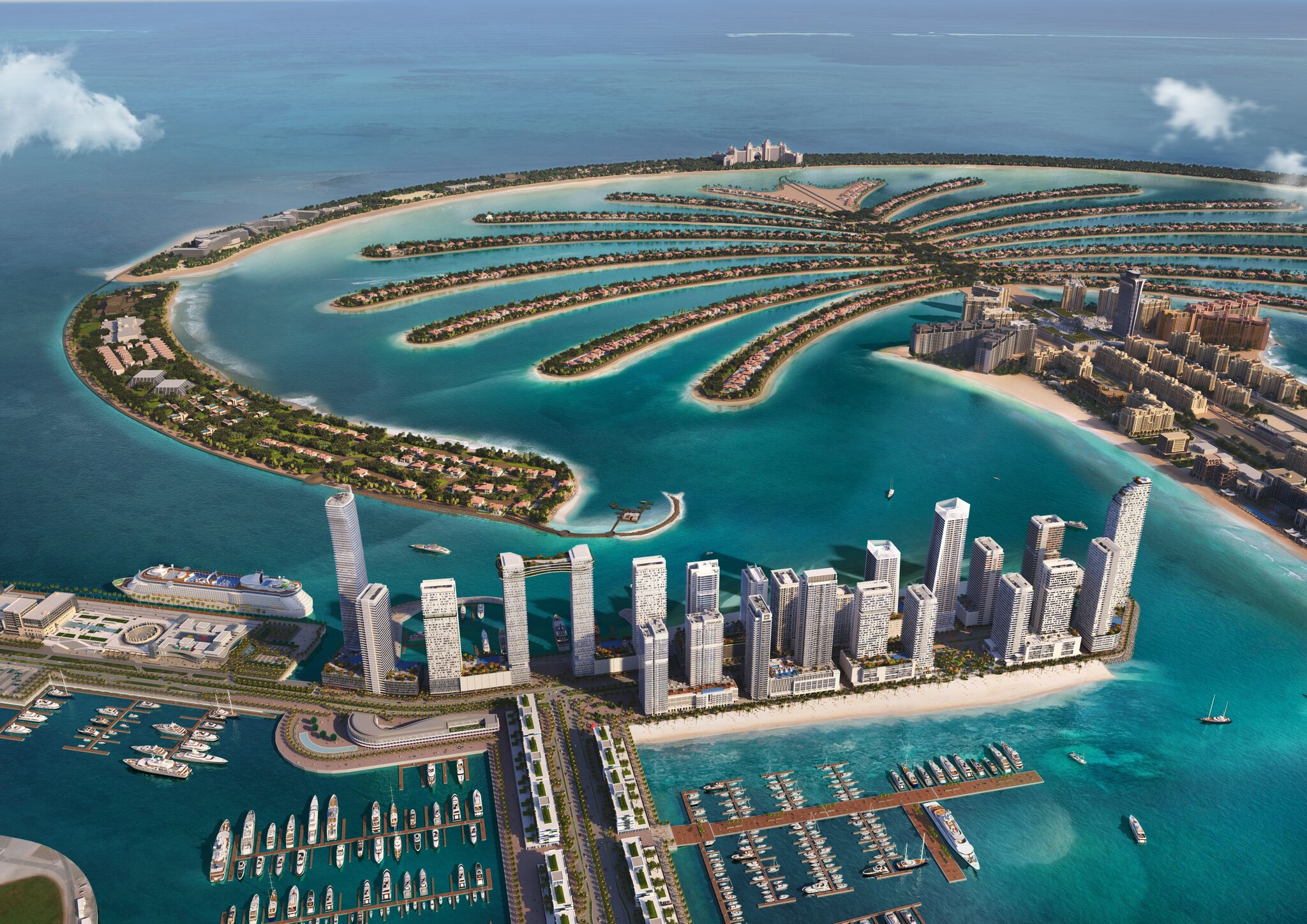 Emaar Beachfront from marina view
