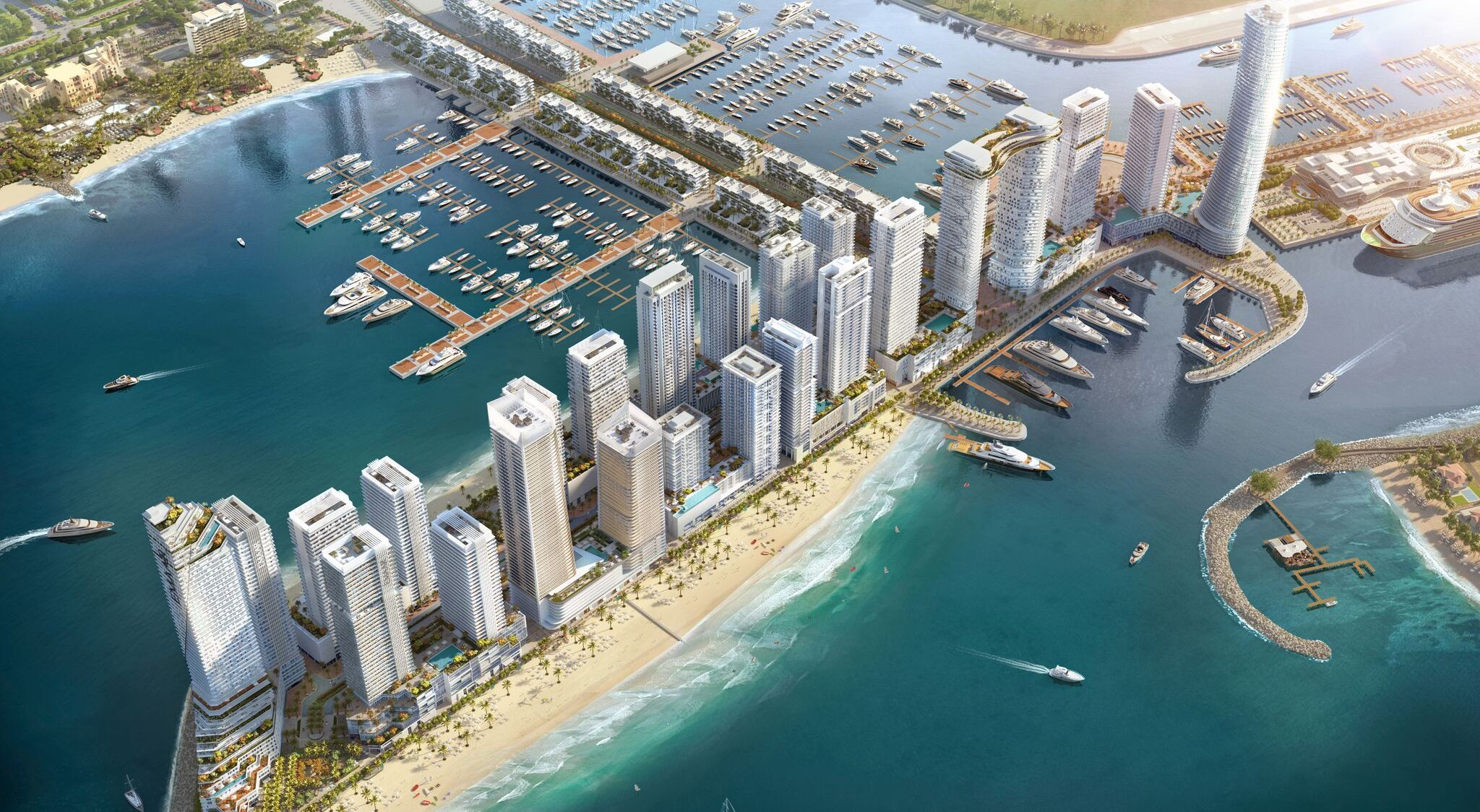 dubai harbour emaar beachfront updates